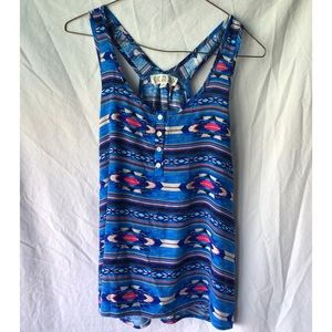 Patterned Summer Tank Top